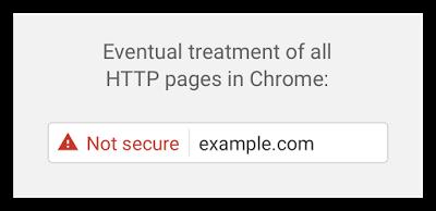 Google Chrome Security Warning
