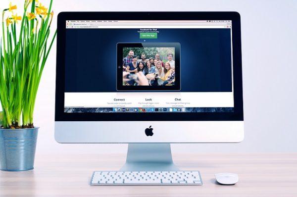 Website on mac computer